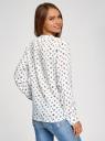 Блузка вискозная прямого силуэта oodji #SECTION_NAME# (белый), 21400394-1B/24681/1229O - вид 3