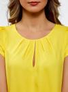 Блузка вискозная на молнии oodji #SECTION_NAME# (желтый), 11403203-1/35610/5100N - вид 4