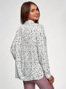 Блузка базовая из вискозы с нагрудными карманами oodji для женщины (белый), 11411127B/42540/1229O