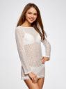 Платье кружевное с вырезом-лодочкой oodji #SECTION_NAME# (белый), 59801010/46001/1200N - вид 2
