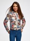 Куртка стеганая с круглым вырезом oodji для женщины (разноцветный), 10203072B/42257/3070F - вид 2