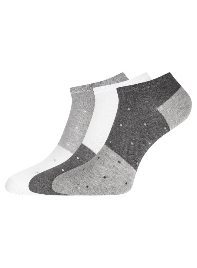 Комплект из трех пар укороченных носков oodji для женщины (разноцветный), 57102433T3/47469/97
