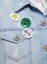 Куртка джинсовая со значками oodji #SECTION_NAME# (синий), 11109031/46654/7000W - вид 5