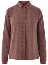 Блузка базовая из струящейся ткани oodji #SECTION_NAME# (красный), 11400368-8B/48854/4930G