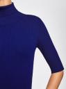 Платье вязаное с вырезом-капелькой на спине oodji для женщины (синий), 63912225/46999/7500N