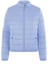 Куртка стеганая с воротником-стойкой oodji для женщины (синий), 10203060B/43363/7002N