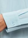 Блузка вискозная А-образного силуэта oodji #SECTION_NAME# (синий), 21411113B/26346/7001N - вид 5