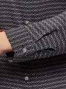 Туника принтованная из вискозы с ремнем oodji #SECTION_NAME# (черный), 21412057-4/24681/2912G - вид 5