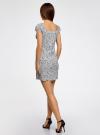 Платье хлопковое со сборками на груди oodji #SECTION_NAME# (белый), 11902047-2B/14885/1029F - вид 3