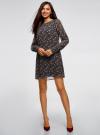 Платье прямого силуэта из струящейся ткани oodji #SECTION_NAME# (черный), 11900150-13/13632/2945E - вид 2