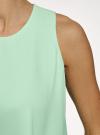 Топ двуслойный из струящейся ткани oodji #SECTION_NAME# (зеленый), 14911019/46796/6501N - вид 5