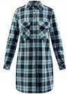 Платье-рубашка с карманами oodji #SECTION_NAME# (зеленый), 11911004-2/45252/7965C