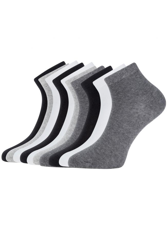 Комплект укороченных носков (10 пар) oodji для женщины (разноцветный), 57102418T10/47469/19V1N