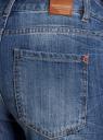 Джинсы-бойфренды с потертостями oodji для женщины (синий), 12105015/42559/7500W