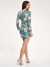 Платье приталенное принтованное oodji #SECTION_NAME# (разноцветный), 11900220-1/45352/7562F - вид 3