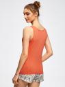 Пижама с шортами принтованная oodji #SECTION_NAME# (оранжевый), 56002187-6/47692/4329P - вид 3