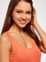 Майка базовая oodji для женщины (оранжевый), 24315001B/46147/5500N
