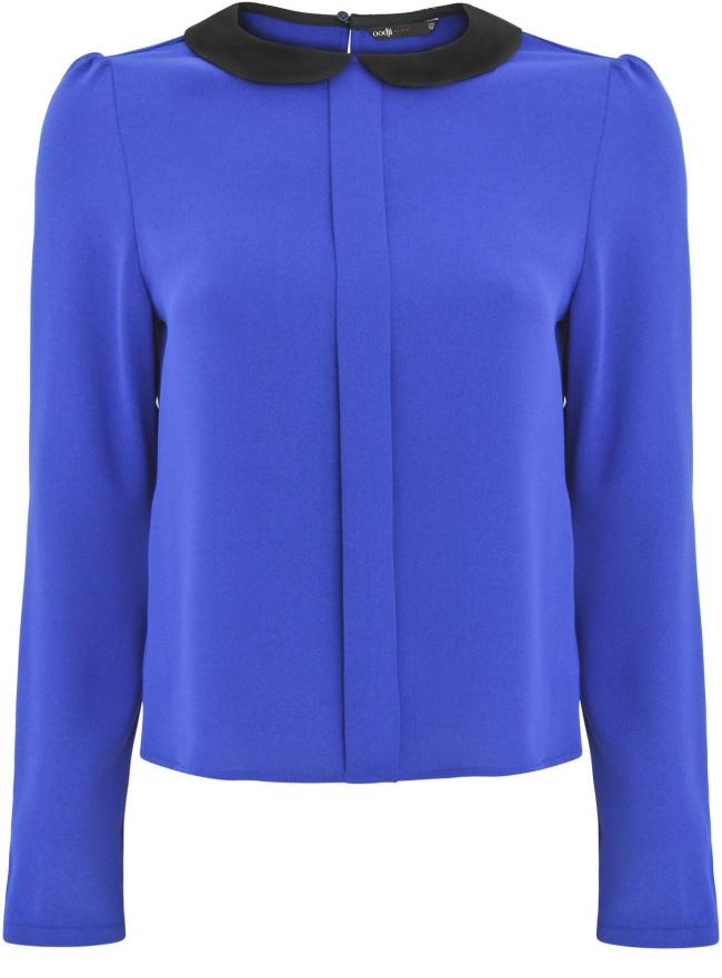 Блузка oodji для женщины (синий), 11411088/43735/7529B