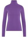 Водолазка хлопковая oodji #SECTION_NAME# (фиолетовый), 15E02001B/46147/8301N