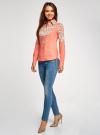 Блузка хлопковая с этническим принтом oodji #SECTION_NAME# (розовый), 21402212-2/45966/4365E - вид 6