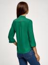 Блузка базовая из шифона oodji #SECTION_NAME# (зеленый), 11403225B/45227/6E00N - вид 3