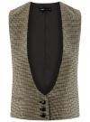 Жилет классический с декоративными карманами oodji #SECTION_NAME# (бежевый), 12300102/22124/3329C