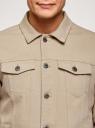 Куртка джинсовая на пуговицах oodji #SECTION_NAME# (бежевый), 6L300011M/35771/3300W - вид 4