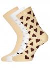 Комплект высоких носков (3 пары) oodji #SECTION_NAME# (разноцветный), 57102902T3/47469/44 - вид 2