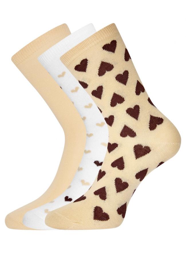 Комплект высоких носков (3 пары) oodji для женщины (разноцветный), 57102902T3/47469/44