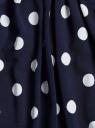 Футболка принтованная с рукавом 3/4 oodji для женщины (синий), 24201012-1/26256/7912D
