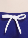 Брюки трикотажные с завязками oodji #SECTION_NAME# (синий), 16700045-2B/46949/7500N - вид 4