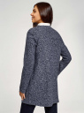 Кардиган из фактурной ткани с накладными карманами oodji для женщины (синий), 19201003/49599/7910N