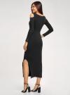 Платье макси с открытыми плечами oodji #SECTION_NAME# (черный), 14011072/48959/2900P - вид 3