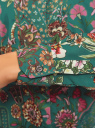 Блузка свободного силуэта с цветочным принтом oodji #SECTION_NAME# (зеленый), 21411109/46038/6D19F - вид 5
