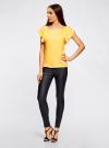 Блузка из вискозы с рукавами-крылышками oodji #SECTION_NAME# (желтый), 11411106/45542/5200N - вид 6