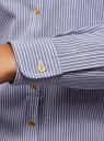 Рубашка хлопковая с вышивкой oodji для женщины (синий), 13K11007/45387/7010S