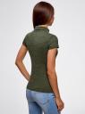 Водолазка с коротким рукавом oodji для женщины (зеленый), 25E02001B/18605/6E00N