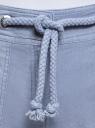 Шорты льняные с люверсами на поясе oodji #SECTION_NAME# (синий), 21801027/48451/7500N - вид 4
