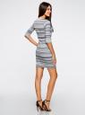 Платье жаккардовое с геометрическим узором oodji для женщины (синий), 14001064-5/46025/7079G