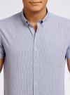 Рубашка приталенная в мелкую клетку oodji #SECTION_NAME# (синий), 3L210024M/44172N/1075C - вид 4