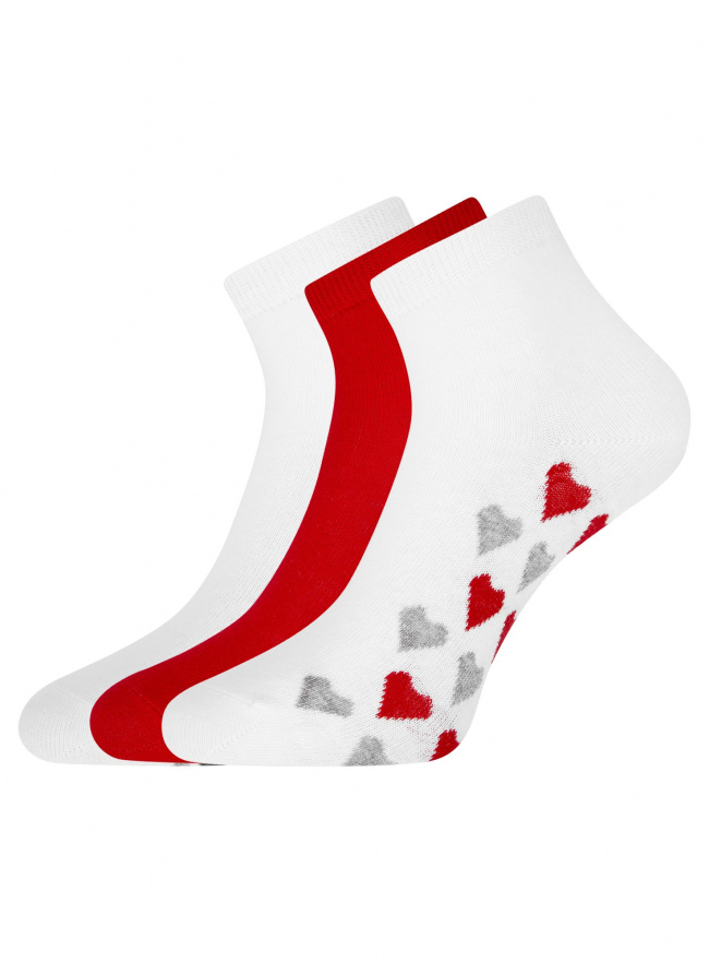 Комплект из трех пар укороченных носков oodji для женщины (разноцветный), 57102418T3/47469/45