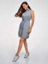 Платье хлопковое на кулиске oodji #SECTION_NAME# (синий), 11901147-5B/42468/7079F - вид 6