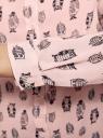 Блузка вискозная прямого силуэта oodji #SECTION_NAME# (розовый), 11411098-3/24681/4029O - вид 5