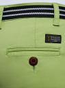 Шорты хлопковые с ремнем oodji #SECTION_NAME# (зеленый), 12807089/48153/6B00N - вид 5