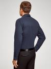 Рубашка приталенная в горошек oodji #SECTION_NAME# (синий), 3B110016M/19370N/7910D - вид 3