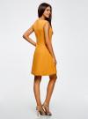Платье из плотной ткани с овальным вырезом oodji для женщины (желтый), 11907004-2/31291/5200N - вид 3
