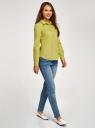 Рубашка базовая с нагрудными карманами oodji #SECTION_NAME# (зеленый), 11403222B/42468/6A01N - вид 6