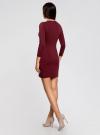 Платье базовое с рукавом 3/4 oodji для женщины (красный), 63912222-1B/46244/4900N - вид 3