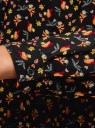 Блузка вискозная прямого силуэта oodji #SECTION_NAME# (черный), 11411098-3/24681/2931A - вид 5