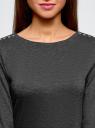 Платье облегающего силуэта на молнии oodji #SECTION_NAME# (серый), 14001105-6B/46944/2500M - вид 4